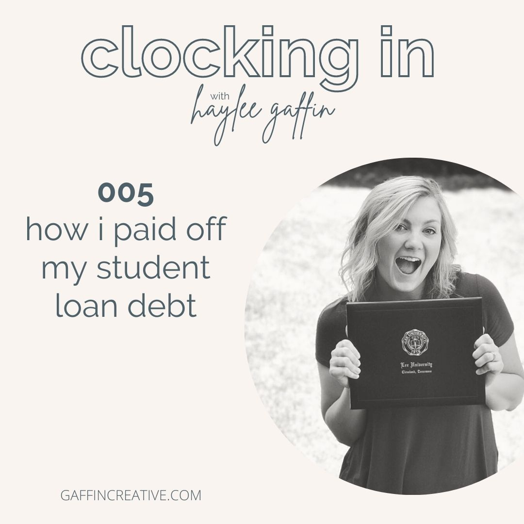 Episode 005: How I Paid Off My Student Loan Debt