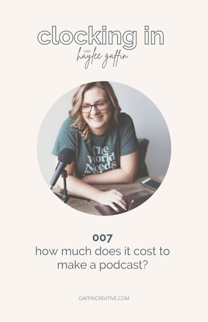 how much does it cost to make a podcast?