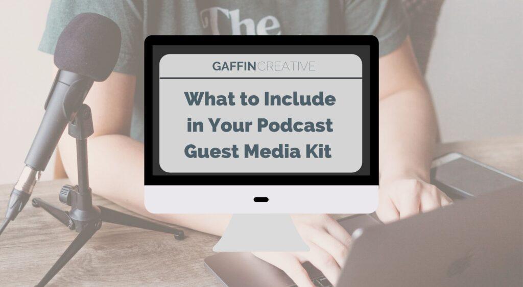 podcast guest media kit